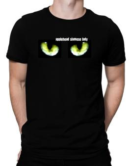 Applehead Siamese Lady Men T-Shirt
