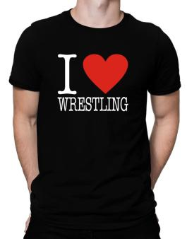 I Love Wrestling Classic Men T-Shirt