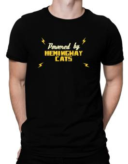 Powered By Hemingway Cats Men T-Shirt