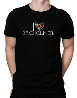 I love Broholmer colorful hearts Men T-Shirt