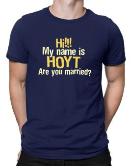Hi My Name Is Hoyt Are You Married? Men T-Shirt