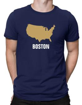 Boston - Usa Map Men T-Shirt