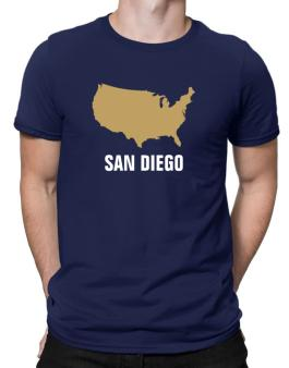 San Diego - Usa Map Men T-Shirt
