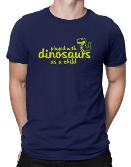 Polo de Played with dinosaurs as a child