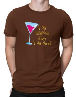 I Am Accommodating When I Am Drunk Men T-Shirt