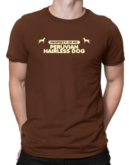 Property Of My Peruvian Hairless Dog Men T-Shirt