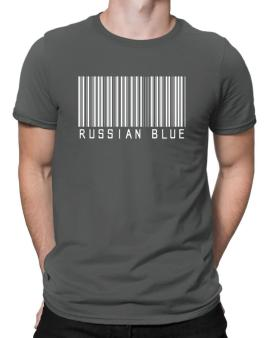Russian Blue Barcode Men T-Shirt