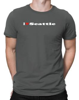 I Love Seattle Men T-Shirt