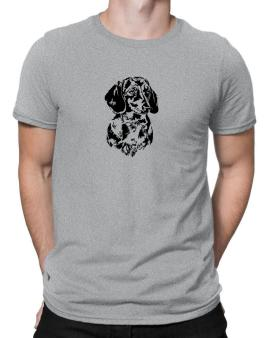 Polo de Dachshund Face Special Graphic