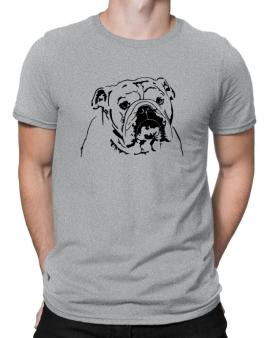 American Bulldog Face Special Graphic Men T-Shirt