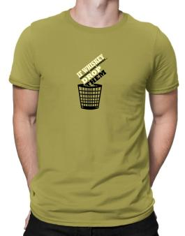 If Whiskey Hinders Your Studies, Drop Them Men T-Shirt