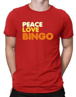 Peace Love Bingo Men T-Shirt