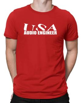 Usa Audio Engineer Men T-Shirt