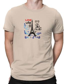 Love live Paris Men T-Shirt