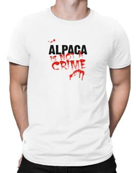 Being A ... Alpaca Is Not A Crime Men T-Shirt