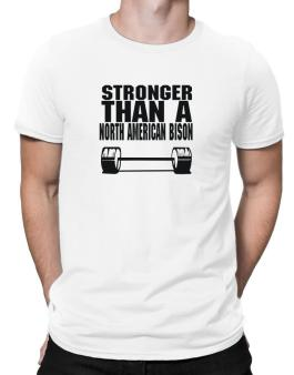 Stronger Than A North American Bison Men T-Shirt