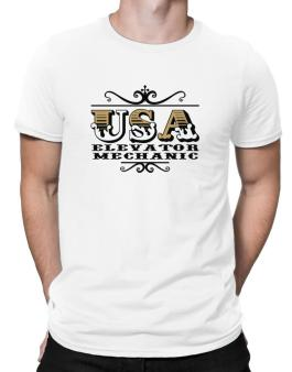 Usa Elevator Mechanic Men T-Shirt