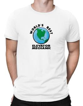 Worlds Best Elevator Mechanic - Globe Men T-Shirt