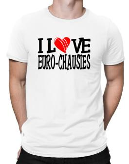 I Love Euro Chausies - Scratched Heart Men T-Shirt