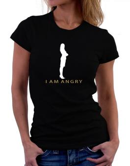 I Am Angry - Female Women T-Shirt