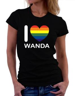 I Love Wanda - Rainbow Heart Women T-Shirt