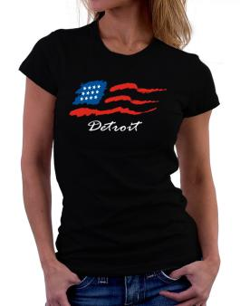 Detroit - Us Flag Women T-Shirt