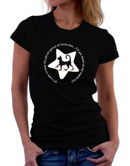 If I Want To Hear The Pitter-patter Of Little Feet ... Ill Put Shoes On My Aegean Cat Women T-Shirt