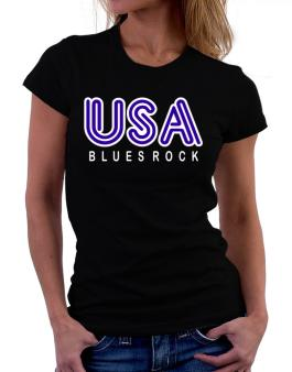Usa Blues Rock Women T-Shirt
