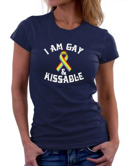 I Am Gay And Kissable Women T-Shirt
