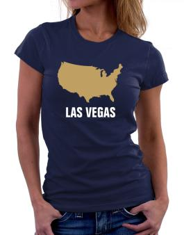 Las Vegas - Usa Map Women T-Shirt