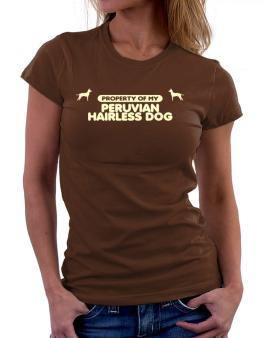 Property Of My Peruvian Hairless Dog Women T-Shirt