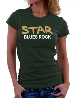 Star Blues Rock Women T-Shirt
