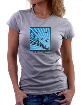 Glitch - Musical Notes Women T-Shirt