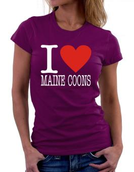 I Love Maine Coons Women T-Shirt