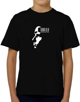 Canada - Barcode With Face T-Shirt Boys Youth