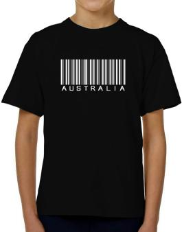 Australia Barcode T-Shirt Boys Youth