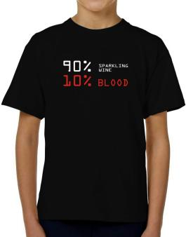 90% Sparkling Wine 10% Blood T-Shirt Boys Youth
