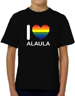 I Love Alaula - Rainbow Heart T-Shirt Boys Youth