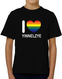 I Love Yinnelzye - Rainbow Heart T-Shirt Boys Youth