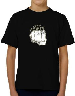Crow Power T-Shirt Boys Youth