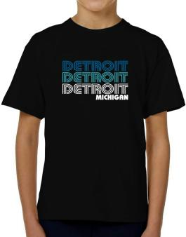 Detroit State T-Shirt Boys Youth