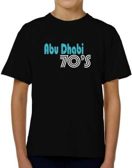 Abu Dhabi 70s Retro T-Shirt Boys Youth