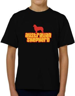 Breed Color Australian Shepherd T-Shirt Boys Youth