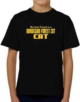 My Best Friend Is A Norwegian Forest Cat T-Shirt Boys Youth