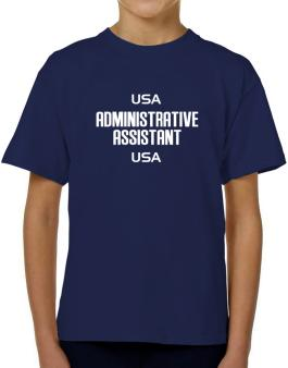 Usa Administrative Assistant Usa T-Shirt Boys Youth
