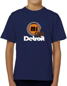 Detroit - State T-Shirt Boys Youth