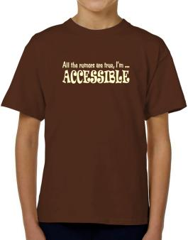 All The Rumors Are True, Im ... Accessible T-Shirt Boys Youth