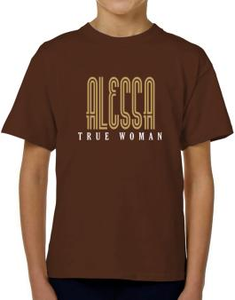 Alessa True Woman T-Shirt Boys Youth