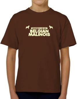 Property Of My Belgian Malinois T-Shirt Boys Youth