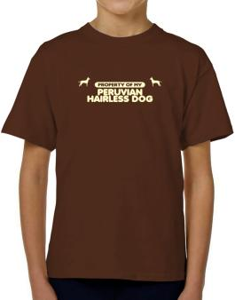 Property Of My Peruvian Hairless Dog T-Shirt Boys Youth